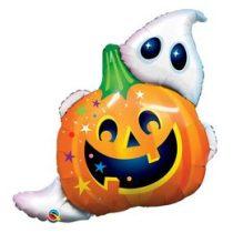 """Óriás fólia lufi 33"""" 84cm tök és szellem, Halloween, 89964, héliummal töltve"""