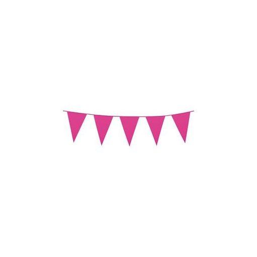 Zászlófüzér 10m műanyag, pink, t74789