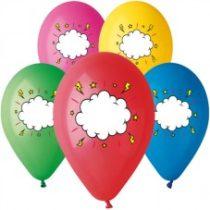 """Latex lufi (gumi) 11"""" 10db/csomag egyediesíthető vegyes színű felhő- 11-printfelhosegyedi"""