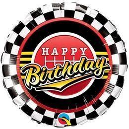 """Szülinapi fólia lufi 18"""" 45cm Happy Birthday, 49193, héliummal töltve"""
