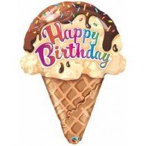 "Óriás fólia lufi 27"" 69cm fagylalt, fagyi, Ice Cream,  Happy Birthday, 16400,  héliummal töltve"