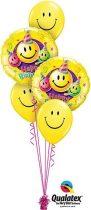 Héliumos luficsokor szülinapra, Smiley, Happy Birthday - INGYENES KISZÁLLÍTÁSSAL