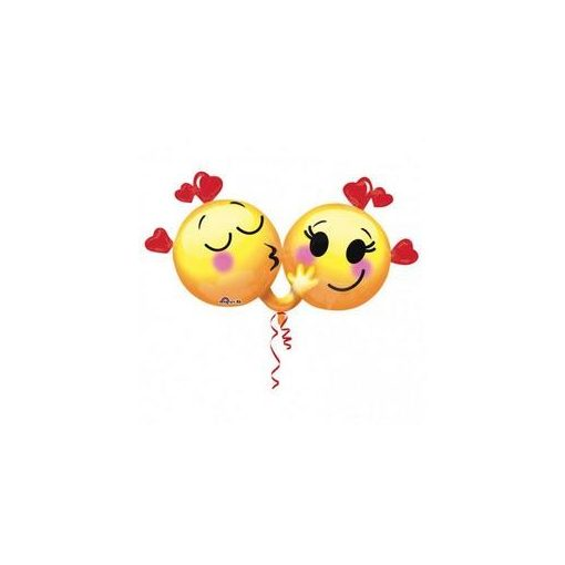 Fólia lufi Emoji pár, 3415801, héliummal töltve