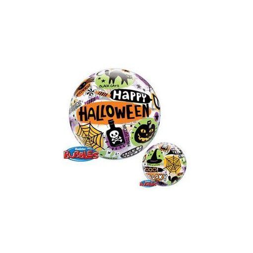 """Halloween Bubbles lufi 22"""" 56cm Héliummal töltve, 43433"""