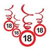 Sebességkorlátozó függő dekoráció 6db-os 18-as számmal, 32957