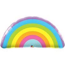"""Óriás fólia lufi 36"""", 91cm-es szivárvány, rainbow, 78556, héliummal töltve"""