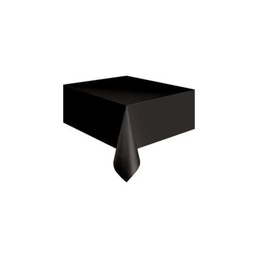 Műanyag asztalterítő 137x274cm fekete, p5096