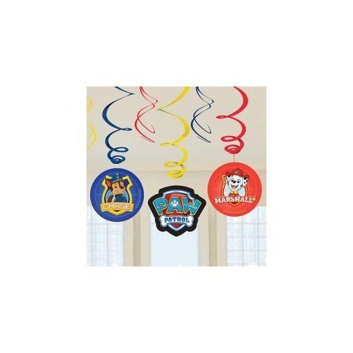 Spirális Függő dekoráció, Mancs Őrjárat - 6 db, a9903833