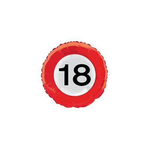 """Szám, Számos fólia lufi 18"""" 45cm - 18-as lufi Sebességkorlátozó, 28518, héliummal töltve"""