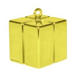 Léggömbsúly, nehezék 110g ajándékdoboz forma, arany színben, 14390