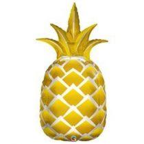 """Óriás lufi 44"""" 112cm fólia Ananas, ananász, 57362, héliummal töltve"""