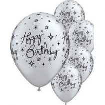 "Szülinapi latex lufi 11"" 28cm 6db Happy Birthday!, 17928"