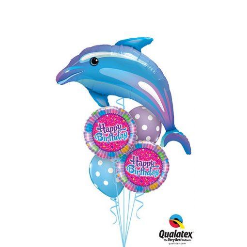 Héliumos luficsokor szülinapra, delfin - INGYENES KISZÁLLÍTÁSSAL