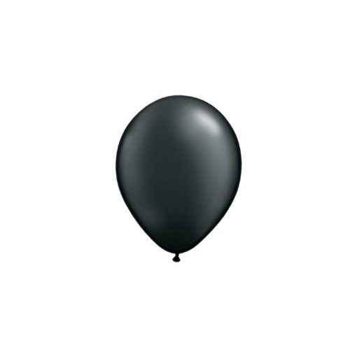 """Lufi QUALATEX 11"""" (28cm-es) gyöngyház (pearl) színek -  100db/csomag - gyöngyház fekete, pearl onyx black"""