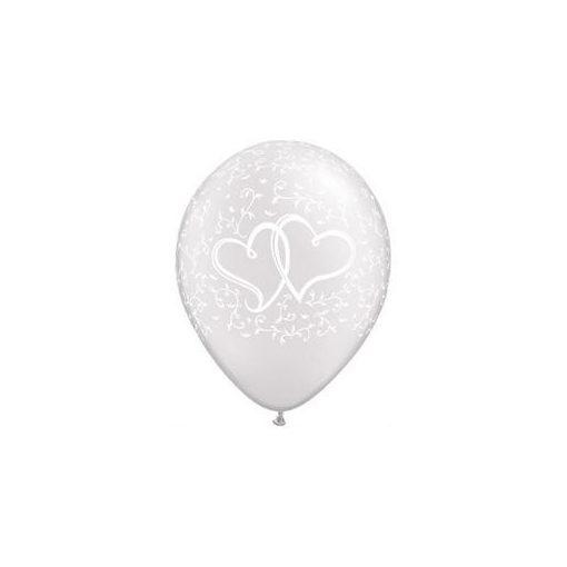 """Esküvői latex lufi 11"""" 28cm, diamond clear, kristálytiszta, átlátszó, 37200bont"""