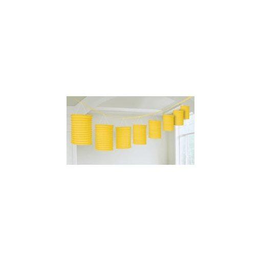 Lampionfüzér, 3,6m, sárga színben, a2205509
