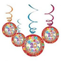 Boldog születésnapot! függő dekoráció, Boldog 20. szülinapot!, 33305