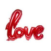 """Fólia lufi 30"""" 70cm LOVE felirat - csak levegővel tölthető - Piros"""