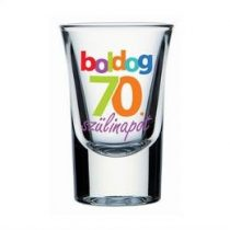 Üvegpohár feles Boldog 70. Szülinapot, 30311