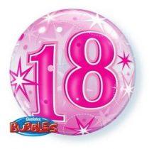 """Számos Bubbles lufi 22"""" 56cm 18-as számmal, Héliummal töltve, 43122"""