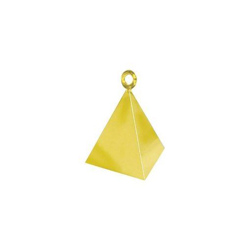 Léggömbsúly, nehezék 110g piramis forma, arany színben, 14407