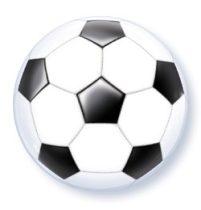 """Mintás Bubbles lufi 22"""" 56cm foci, football Héliummal töltve, 19064"""
