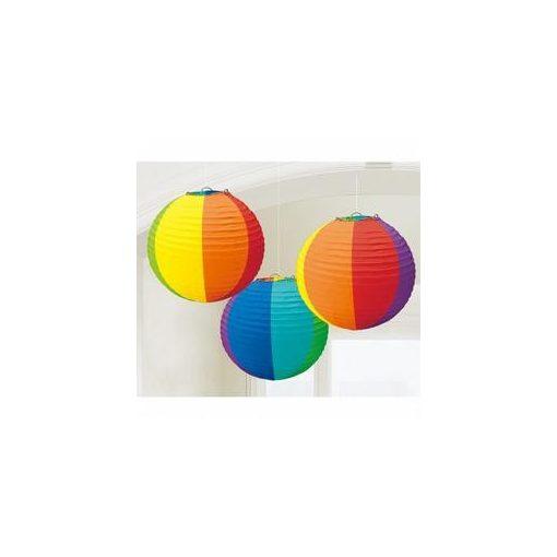 Lampion gömb 24cm 3db vegyes színű a24056-90-55