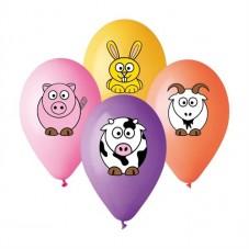 """Latex lufi (gumi) 11"""" 10db/csomag farm állat - 11-printujfarmfriend"""