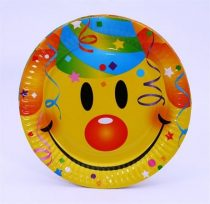 Papírtányér Smiley 23cm 6db
