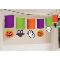 Halloween Mintás Lampion Füzér - 365 Cm