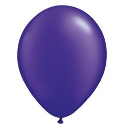 """QUALATEX 11"""" (28cm-es) Latex léggömb, pearl színek gyöngyház lila lufi, pearl quartz purple"""