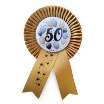 Szalagos számos kitűző, 50-es, elegáns, 24985