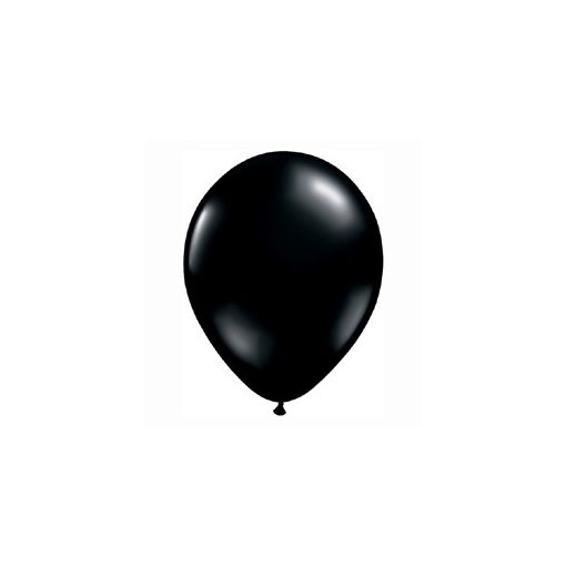 """QUALATEX 16"""" (40cm-es) Latex léggömb, fashion színek, fekete lufi, fashion onyx black"""