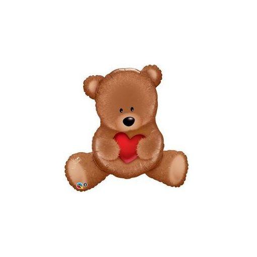 "Óriás fólia lufi 35"" Teddy maci, 98705, héliummal töltve"