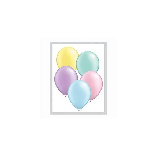QUALATEX 11' (28cm-es) pastel pearl színek vegyesen 100db/csomag