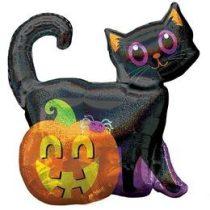 """Óriás fólia lufi 27"""" 68cm macska és tök, Halloween, n3813901, héliummal töltve"""