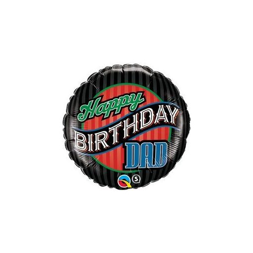 """Szülinapi fólia lufi 18"""" 45cm Happy Birthday, 25576, héliummal töltve"""
