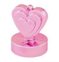 Léggömbsúly, nehezék 110g szív forma, gyöngyház rózsaszín színben, 12472