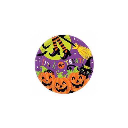Parti Tányér Halloween - 23cm, 8db, 999947