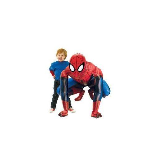 Óriás álló lufi, airwalkers 36 inch 91 cm Pókember, Spiderman, levegővel tölthető