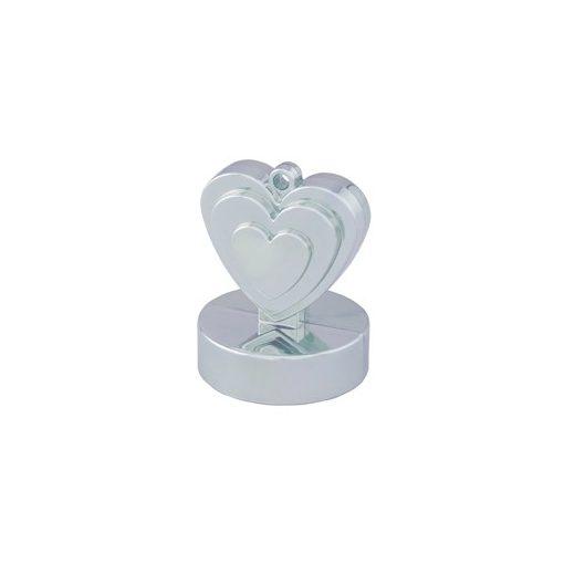 Léggömbsúly, nehezék 110g szív forma, ezüst színben, 12480