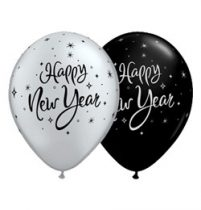 "QUALATEX 11"" (28cm-es) -  25db/csomag - Happy New Year szilveszteri lufi"