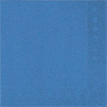 Szalvéta 33x33cm egyszínű 20db kék p31462
