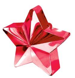 Léggömbsúly, nehezék 170g csillag forma, piros színben, 11780007