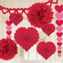 Valentin napi piros szett 9db, a240184