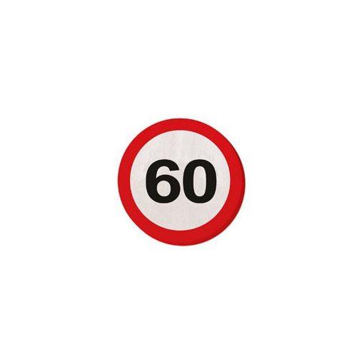 Szalvéta sebességkorlátozó számos 30cm 20db 60-as számmal f28360