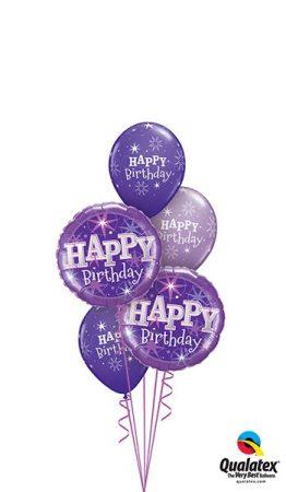 Héliumos luficsokor szülinapra, Happy Birthday - INGYENES KISZÁLLÍTÁSSAL
