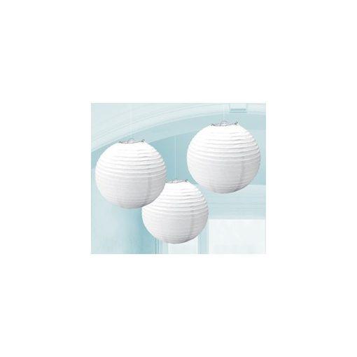 Lampion gömb 24cm 3db, fehér színben, a2405508