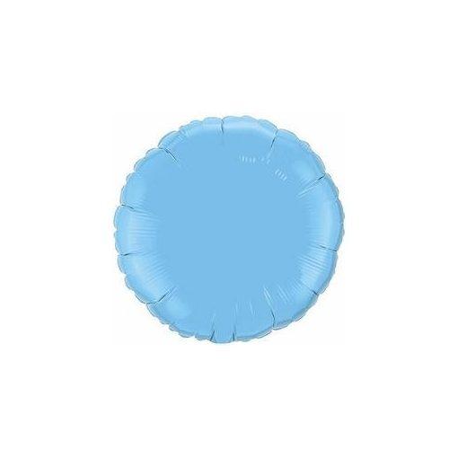 """Egyszínű kerek fólia lufi 18"""" 45cm világoskék, 12908, héliummal töltve"""