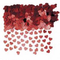 Konfetti piros szív14g, a37009-07